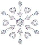 отрежьте диаманты различные сделал снежинку Стоковые Фото