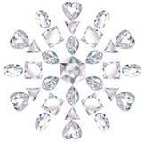 отрежьте диаманты различные сделал снежинку Стоковое Изображение RF