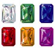 отрежьте драгоценные излучающие камни sparkle Стоковое Изображение
