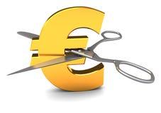 отрежьте евро Стоковое фото RF
