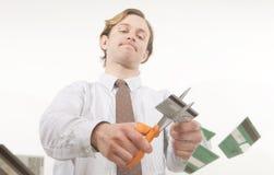 отрежьте задолженность вне Стоковые Изображения