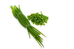 Отрежьте зеленый лук Стоковое Изображение