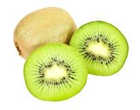 отрежьте зеленый половинный киви Стоковое Изображение RF