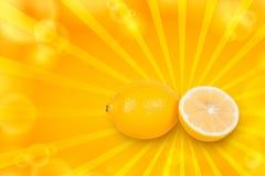 отрежьте лимон Стоковые Фотографии RF