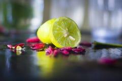 отрежьте лимон Стоковое Изображение RF