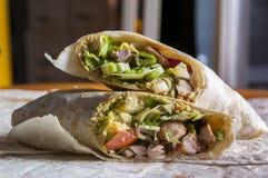 Отрежьте индийский обруч с мясом цыпленка и masala garam Стоковое Изображение