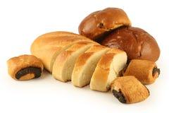 отрежьте крены хлебца длиной Стоковая Фотография RF