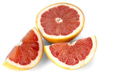 Отрежьте куски грейпфрута Стоковые Фото