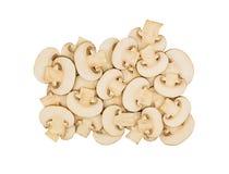 Отрежьте куски гриба champignon Стоковые Изображения RF
