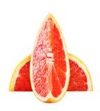 Отрежьте кусок грейпфрута Стоковые Изображения