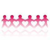 отрежьте людей влюбленности бумажные Стоковая Фотография RF
