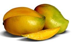 отрежьте манго Стоковая Фотография RF