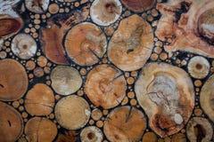 Отрежьте мозаику дерева стоковое фото rf