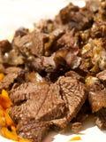 отрежьте мясо, котор служят вверх Стоковая Фотография RF