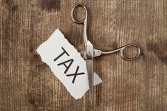 Отрежьте налоги, дело схематическое Стоковое Изображение RF
