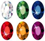 отрежьте овальные драгоценные камни sparkle Стоковое Фото