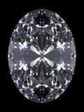 отрежьте овал диаманта Стоковое фото RF