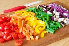 отрежьте овощи Стоковые Изображения