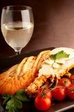 отрежьте омара тарелки Стоковое фото RF