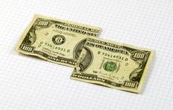 Отрежьте доллары Стоковые Фотографии RF
