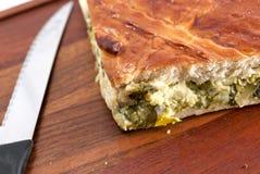 Отрежьте пирог капусты Стоковая Фотография RF