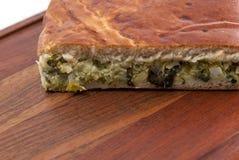 Отрежьте пирог капусты Стоковые Фото