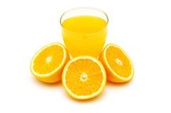 отрежьте половинный помеец oran сока Стоковые Изображения
