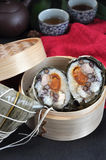 Отрежьте половину еды китайца Zongzi Стоковые Фото