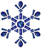 отрежьте различное сделанное isolat снежинкой сапфиров Стоковое фото RF