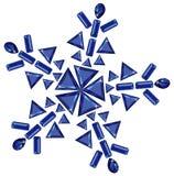отрежьте различную сделанную снежинку сапфиров Стоковые Изображения