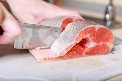 отрежьте рыб Стоковые Изображения RF