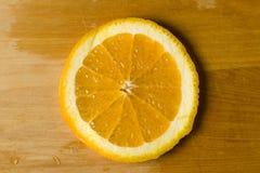 отрежьте свеже колесо померанца плодоовощ плодоовощ Стоковое Изображение