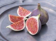 Отрежьте свежие смоквы Стоковые Изображения