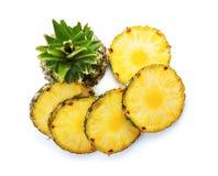 Отрежьте свежий ананас Стоковые Изображения