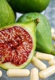 отрежьте смоквы свежие Стоковое Изображение