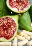 отрежьте смоквы свежие стоковое фото