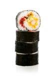 Отрежьте суши Rolls Стоковое Изображение RF