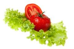 отрежьте томат листа салата Стоковые Изображения