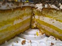 Отрежьте торт печенья Стоковое Изображение RF