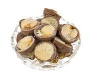 Отрежьте трюфеля сливк фундука шоколада в шаре Стоковые Фотографии RF