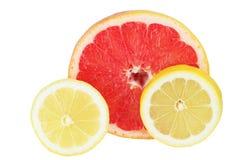 отрежьте часть лимона грейпфрута Стоковое Фото