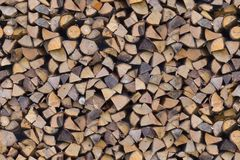 Отрежьте штабелированные концы дерева Стоковые Фотографии RF