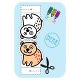 Отрежьте для детей с медведем. Стоковые Фото