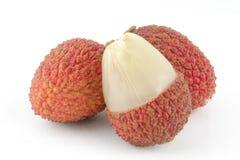 отрежьте lychee Стоковая Фотография