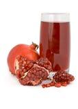 отрежьте pomegranate сока венисы стеклянный Стоковая Фотография
