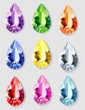 отрежьте teardrop камней Стоковые Изображения