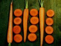 Отрезает морковь Стоковое фото RF