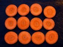 Отрезает морковь Стоковые Фотографии RF
