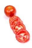 отрезает томат Стоковая Фотография