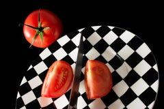 отрезает томат Стоковое Изображение RF